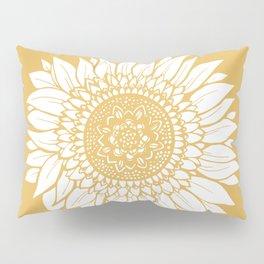 Yellow Sunflower Drawing Pillow Sham