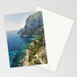View of a Rugged Coastline, Marina Piccola, Capri, Campania, Italy Stationery Cards
