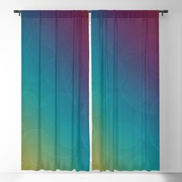 Bohek Bubbles on Rainbow of Color - Ombre multi Colored Spheres Blackout Curtain