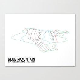 Blue Mountain, PA - Minimalist Trail Art Canvas Print
