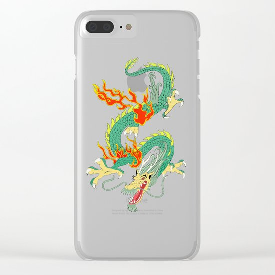 Green Chinese Dragon Clear iPhone Case