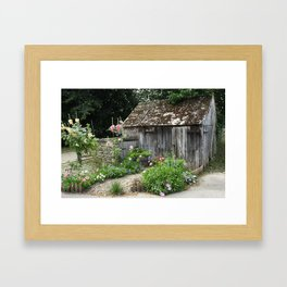 English Garden Shed Framed Art Print