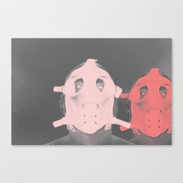 Pastel Masks Canvas Print