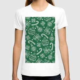 Christmas Doodle Pattern T-shirt