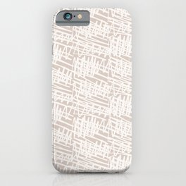 Scribbled Impatience   Neutral Line Pattern iPhone Case