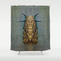moth Shower Curtains featuring Moth by Zandonai