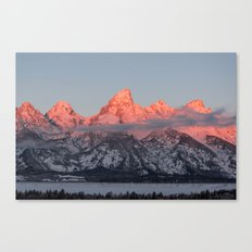 Glowing Pink Sunrise in Grand Teton National Park, Wyoming Canvas Print