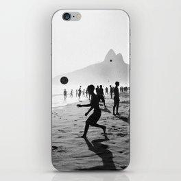 Beach Soccer at Ipanema iPhone Skin