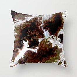 Neo animalic cow milky print Throw Pillow