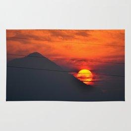 SUNSET OVER MOUNT HOOD Rug