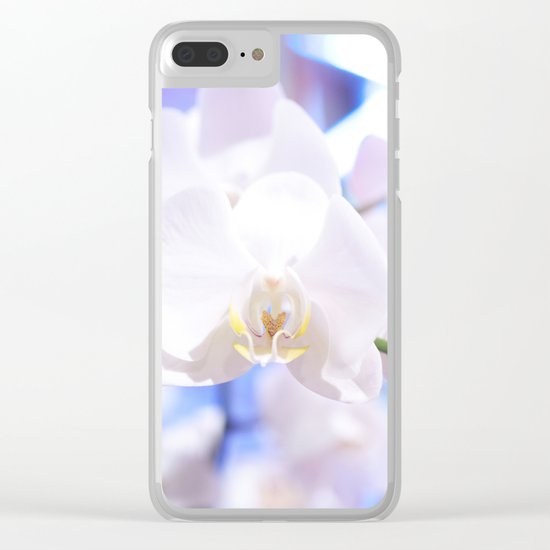 White Orchid Close-up #1 #decor #art #society6 Clear iPhone Case
