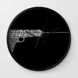 WORDS ARE LOUDER THAN ACTIONS Wall Clock