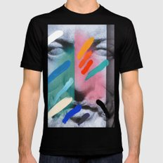 Composition on Panel 6 MEDIUM Black Mens Fitted Tee