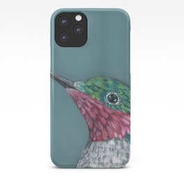 Ruby Throated Hummingbird Portrait iPhone Case