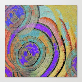 Tree Ring Abstract 3 Canvas Print