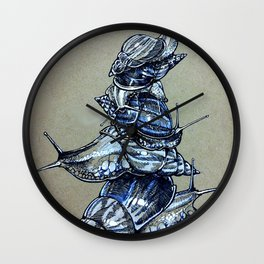 Snail Stack Wall Clock