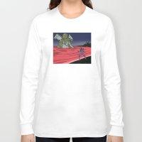 neon genesis evangelion Long Sleeve T-shirts featuring Neon Genesis Elder God: End of EVA by CaptainSunshine