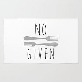 No Forks Given Rug