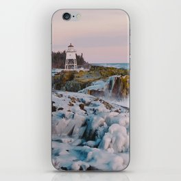 Lighthouse & Ice Formations iPhone Skin