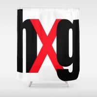 hug Shower Curtains featuring hUg by Hallelu Yar