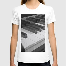 Keyboard of a black piano - 3D rendering T-shirt