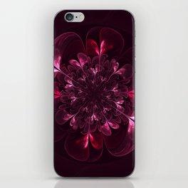 Flower In Bordo iPhone Skin