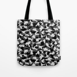 Camouflage Digital Black and White Tote Bag