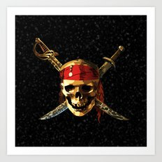 The Smile Skull Pirates Art Print
