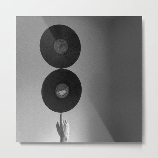 Spinning Records Metal Print