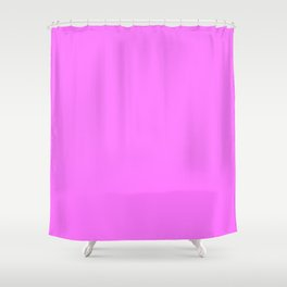 Fuchsia Pink - pink Shower Curtain