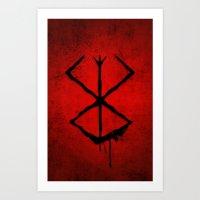 berserk Art Prints featuring The Berserk Addiction by DesignDinamique