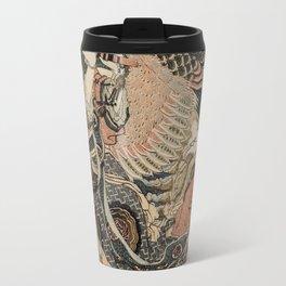 Hokusai, Aspara and the flute – musician manga, japan,hokusai,japanese,北斎,ミュージシャン Travel Mug