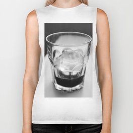 Timeless | Modern abstract black white coffee ice photography Biker Tank