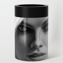Margot Robbie Pencil Sketch Can Cooler