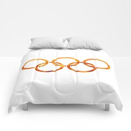 Flaming Olympic Rings Comforters