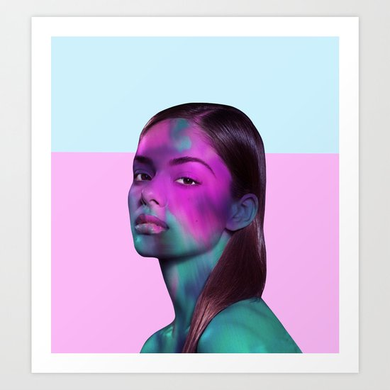 Psychedelic Babe Art Print