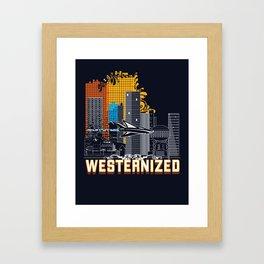 WESTERNIZED  City Framed Art Print