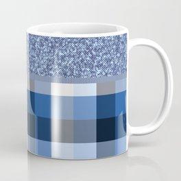 Denim and gingham - mixed Coffee Mug