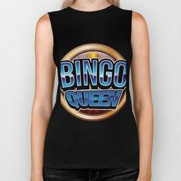 Bingo Queen Bingo Player Gift Funny Biker Tank