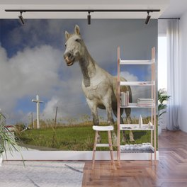 Horse and chapel Wall Mural