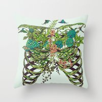 death Throw Pillows featuring Daydreamer by Huebucket