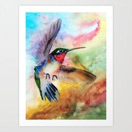 Flit the Hummingbird Art Print