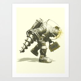 Daddy's Coming Home (Yellow) Art Print