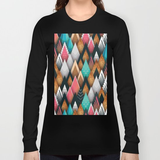 Triangle pattern #society6 Long Sleeve T-shirt
