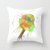 tmnt Throw Pillows featuring TMNT by SpooksieBoo