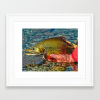 trout Framed Art Prints featuring Trout by Edward M. Fielding