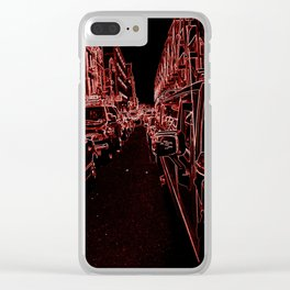 Streets of Singularity Clear iPhone Case