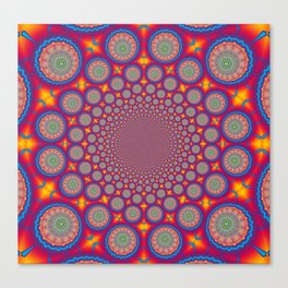 BBQSHOES: Wheels Of Time II Fractal Mandala Canvas Print