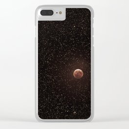 No matter where you are, you will always be looking at the same moon as I am Clear iPhone Case