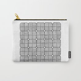 Black Squares Mosaic Carry-All Pouch